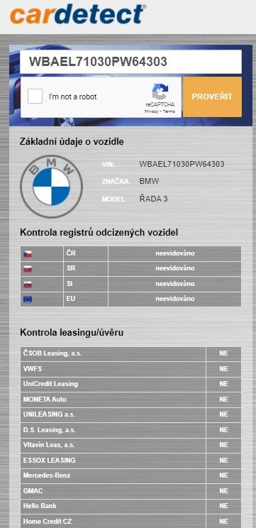 cardetect overenie vozidla v databaze odcudzenych vozidiel a leasingovych spolocnosti